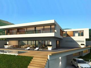 vivienda unifamiliar aislada en Monasterios Casas de estilo moderno de aguilar avila studio Moderno