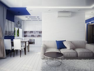 Проект 3х комнатной квартиры в Харькове: Гостиная в . Автор – Инна Михайская,