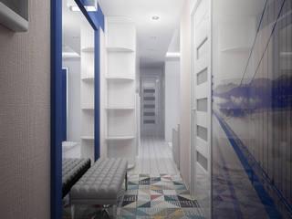 Проект 3х комнатной квартиры в Харькове: Коридор и прихожая в . Автор – Инна Михайская,