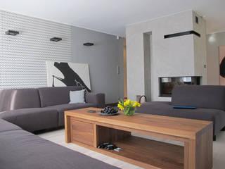 Projekt Kolektyw Sp. z o.o. 现代客厅設計點子、靈感 & 圖片