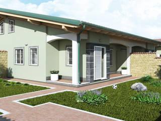 Rendering Immobiliare Roma Styleedil Ardea: Case in stile  di Virgo Design