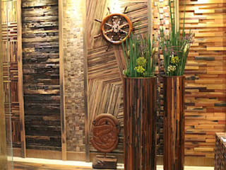 Reclaimed Ship Wood Used Worldwide ShellShock Designs Murs & Sols asiatiques Bois
