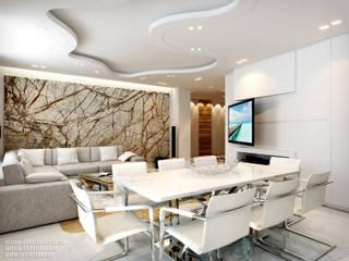 Дизайн квартиры на Есенина: Гостиная в . Автор – ART-INTERNO,