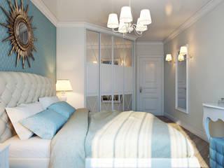 Проект 011: спальня + ванная: Спальни в . Автор – студия визуализации и дизайна интерьера '3dm2', Минимализм
