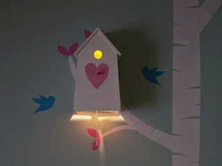 "Birdhouse night lamp ""Love Love"" NOBOBOBO Nursery/kid's roomLighting"