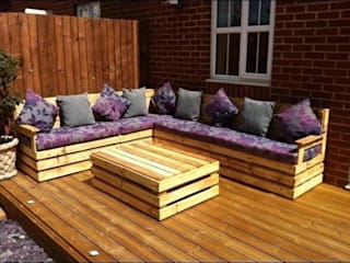 Garden corner unit por Pallet furniture uk Rústico
