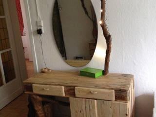 Schminktisch, Europaletten, mit Unterschrank:   von palettenbett.com