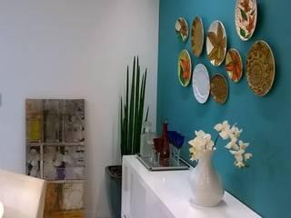 Cores e arte: Salas de jantar  por Fabio Pantaleão Arquitetura+Interiores,Moderno