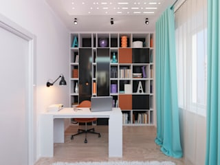 Modern Study Room and Home Office by OK Interior Design Modern