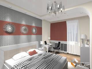 Minimalist bedroom by Лаборатория дизайна 'КУБ' Minimalist