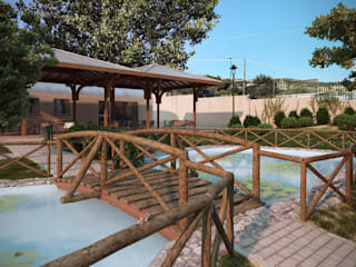 Simulazione del progetto del parco prima della sua realizzazione.:  in stile  di ArchCGstudio - Elaborazioni in Computer Grafica per l'Architettura