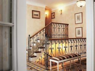 Classic style corridor, hallway and stairs by ANIMA Classic