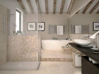 Bagno con mosaico Bagno in stile classico di RenderLab Classico