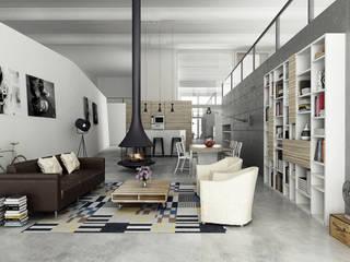 Loft a Milano Spazi commerciali in stile industrial di RenderLab Industrial