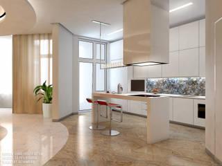 Дизайн квартиры на Морском проспекте д. 40: Кухни в . Автор – ART-INTERNO,