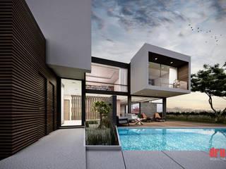 Vista del Jardín Estudio Meraki Casas modernas