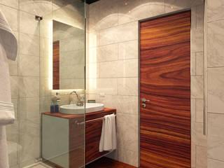 Дизайн квартиры на Яхтенной: Ванные комнаты в . Автор – ART-INTERNO,