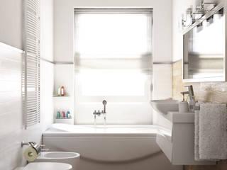 Finto parquet in bagno? Bagno moderno di Arienti Design Moderno