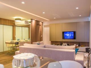 Livings de estilo moderno de Bibiana Menegaz - Arquitetura de Atmosfera Moderno