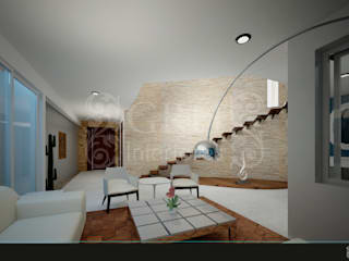 Modern Corridor, Hallway and Staircase by GRH Interiores Modern