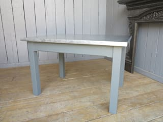 Bespoke Zinc Tables are available to order from UKAA UKAA | UK Architectural Antiques KitchenTables & chairs
