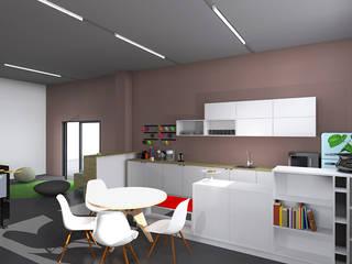 Espace de coworking - Bureaux - Colmar: Bureaux de style  par SPICE Architecture d'intérieur
