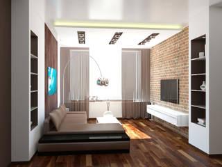 Salas / recibidores de estilo  por ООО 'Студио-ТА', Industrial