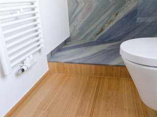 Bambus Stabparkett in Küche und Bad Moderne Badezimmer von Bambus Komfort Parkett Modern