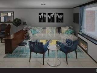 Eklektik Oturma Odası GRH Interiores Eklektik