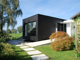 Schwebender Pavillon Moderne Häuser von schroetter-lenzi Architekten Modern