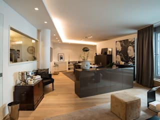 City Apartment: moderne Wohnzimmer von Elke Altenberger Interior Design & Consulting