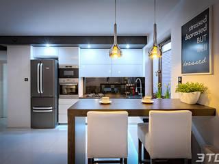 Meble na wymiar - zabudowa kuchni w mieszkaniu od 3TOP Nowoczesny