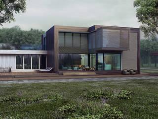 загородный дом 250м2 Дома в скандинавском стиле от ALEXANDER ZHIDKOV ARCHITECT Скандинавский