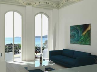 Belvedere: Soggiorno in stile  di MK Designer Studio | Project & 3D ArchViz