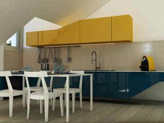 Home Staging Virtuale: Cucina in stile in stile Moderno di MK Designer Studio | Project & 3D ArchViz