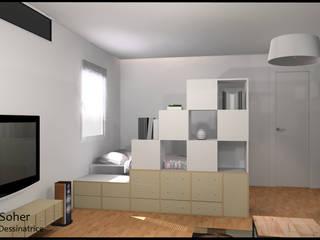 Dormitorios modernos: Ideas, imágenes y decoración de Francine Soher Moderno