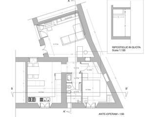 Pianta del progetto:  in stile  di Studio di architettura Miletta