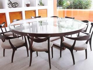 Quinto Distrito Arquitectura Classic style dining room Glass Brown