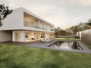 Rendering modern house: Case in stile  di AB photo and graphics