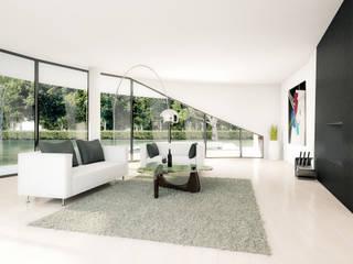Rendering interior: Soggiorno in stile  di AB photo and graphics