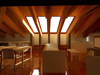 Progetti in soffitta 1 Studio ArchiGraphos Soggiorno moderno