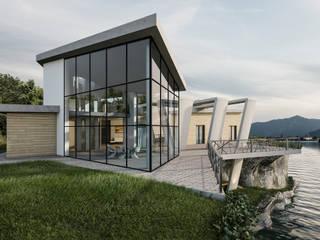 Casa sul lago: Case in stile  di AB photo and graphics