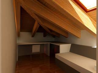 Progetti in soffitta 1 Studio ArchiGraphos Camera da letto moderna