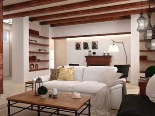 Livings de estilo colonial de GM-interior Colonial