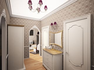 Classic style corridor, hallway and stairs by PLANiUM Classic