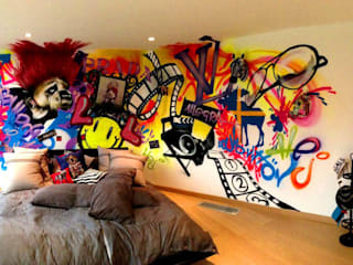 Graffiti Street Art Mural:  Bedroom by Graffiti Kings