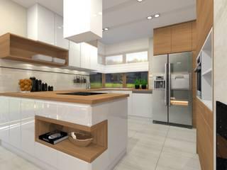 Willa - Gliwice.: styl , w kategorii Kuchnia zaprojektowany przez PR Architects Sp z o. o. Pala&Rodek
