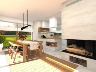 Willa - Gliwice.: styl , w kategorii Jadalnia zaprojektowany przez PR Architects Sp z o. o. Pala&Rodek