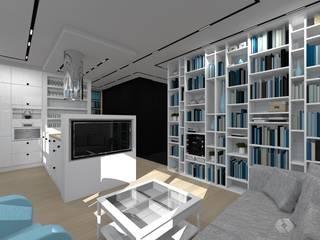 Mieszkanie prywatne - Katowice.: styl , w kategorii Salon zaprojektowany przez PR Architects Sp z o. o. Pala&Rodek