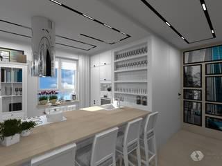 Mieszkanie prywatne - Katowice.: styl , w kategorii Kuchnia zaprojektowany przez PR Architects Sp z o. o. Pala&Rodek